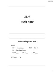 15.4 Yield Rate[1]