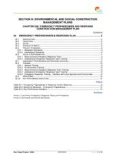 EMERGENCY PREPAREDNESS AND RESPONSE CONSTRUCTION MANAGEMENT PLAN