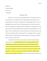 Photography Definition Essay