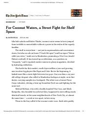 For Coconut Waters, a Street Fight for Shelf Space - NYTimes.pdf