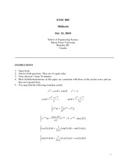 ENSC 805 Fall 2010 Midterm Exam Solutions
