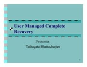 4-User Managed Complete Recovery