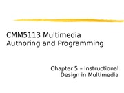 Chapter 5 - Instructional Design