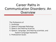 1, Overview of Audiology and SLP