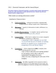 Accounting 229 Chapter 2 notes