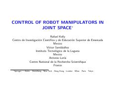 control of robot manipulators in joint space.pdf