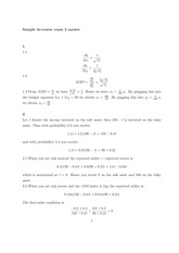 Sample In-course Exam No. 2 (Answers) 2014