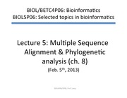 Lecture5Phylogeny