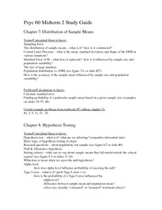 Psyc 60 Midterm 2 Study Guide