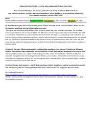 Week 6 - DW Case Study-IUA - LASTNAME - Indiana University