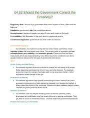 Econ 04.02 Should the Government Control the Economy.docx