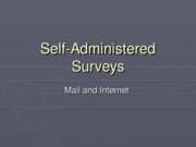 Self-Administered Surveys