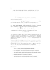 Lecture Notes on Solving Linear Equations