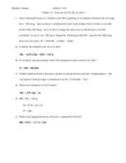 ECO 550 Wk 6 - Chapter 11 and Chapter 12 Problems