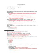 Final  STUDY GUIDE (Bb)