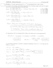 MATH 3650 Fall 2006 Midterm 2 Solutions