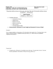 Physics1100~Worksheet#4