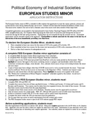 EuropeanStudiesMinorApplication8.07