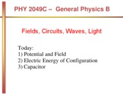 Elec. Energy and Capacitance