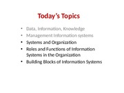 MGT215 - 4 - Key Elements of Information System