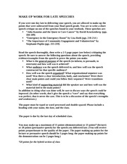 cpr demonstration speech outline