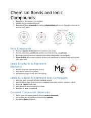 Chemical Bonds and Ionic Compounds Note.docx