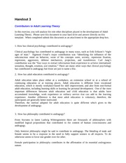 Handout 3 - Contributors to Adult Learning Theory[1]
