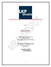 lkp shares comparison with other firms