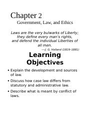 Chapter 2 Government Law Ethics.docx
