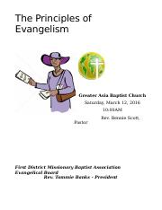 The Principles of Evangelism Student.doc