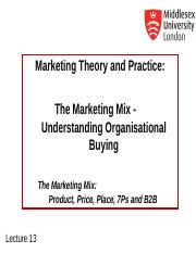 MKT1120 Lecture 13 B2B Marketing .ppt