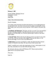 letter requesting information better bikes what are the terms for placing