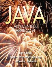 Bruce, Kim B.; Danyluk, Andrea Pohoreckyj; Murtagh, Thomas P. - Java - An Eventful Approach [Draft]
