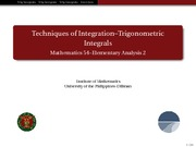 02 Trigonometric Integrals - Handout