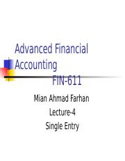Advanced Financial Accounting - FIN611 Power Point Slides Lecture 04.ppt