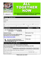 All Together Now Order Form