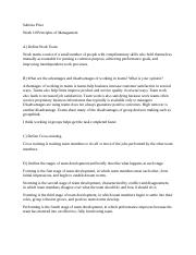 Sabrina Price Week 10 Principles of Management.docx