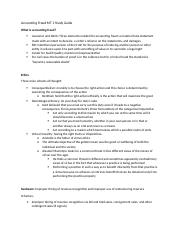 Accounting Fraud MT 1 Study Guide
