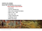 Lecture 1_History of the City