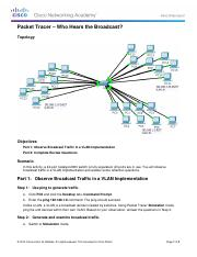 3.1.1.5 Packet Tracer - Who Hears the Broadcast Instructionsz
