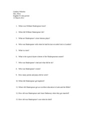 lw questions