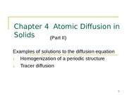 Chapter 4-Diffusion-II
