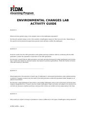 LAB 4 environmental change