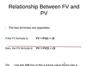 Relationship Between FV and PV