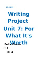 Writing Project 05-26-15