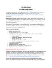Career Project Sp 15 assignment guidelines