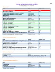 3 month study schedule - week1 Pathoma Rapid Review Path Uworld(1