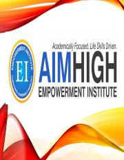 AimHigh Session 1