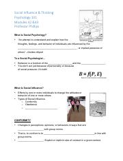 Fill-in Lecture Notes, Mods 42 & 43, Social Influence & Thinking.pdf
