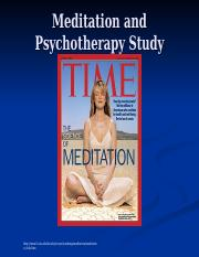 Meditation and Psychotherapy Study